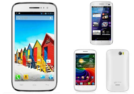 5 best Micromax smartphones in India [See pictures and details]