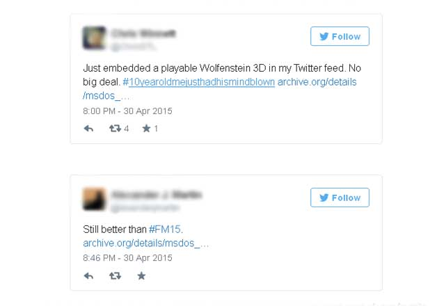 "How to embed MS-DOS games in your tweets "" India TV News"
