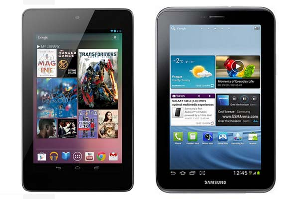 A comparison: Google Nexus 7 vs Samsung Galaxy Tab 2 (P3100)