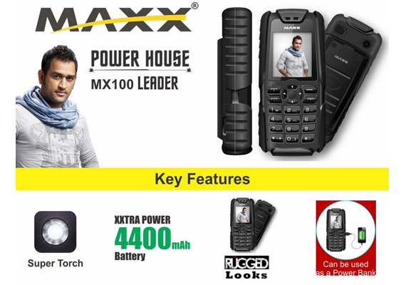 Maxx Mobile S MX100 A Phone With A Huge 4400mAh Battery