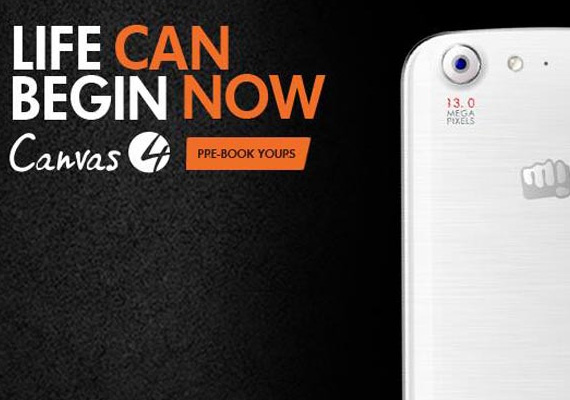 Micromax Canvas 4 pre-booking begins in India, specifications, price to be revealed on July 8