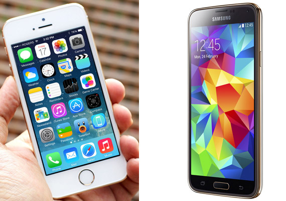 Samsung Galaxy S5 vs iPhone 5S: A comparison