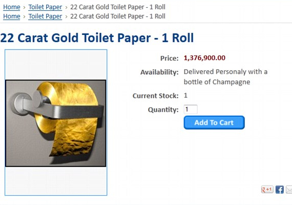 Toilet paper made of 22-carat gold goes on sale at Rs 8.2 crore