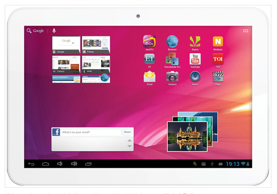 Videocon launches 10-inch VT10 tablet with Android 4.1 for Rs 10,999