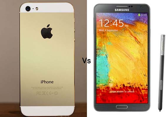Apple iPhone 5S vs Samsung Galaxy Note 3: A comparison of specs and features
