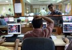 Sensex back at one-year lows, down 421 points