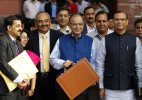Arun Jaitley drapes Budget speech documents in tri-colour