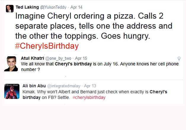 cheryl birthday funny pics