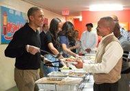 barack obama serves thanksgiving dinner homeless