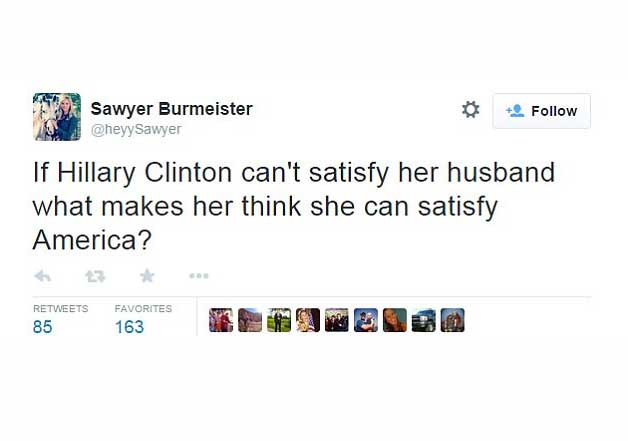 hillary clinton twitter controversy