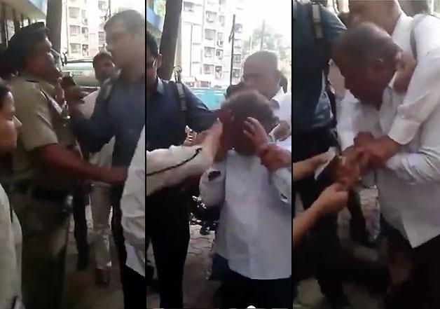 mumbai girl beats old man for clicking pics
