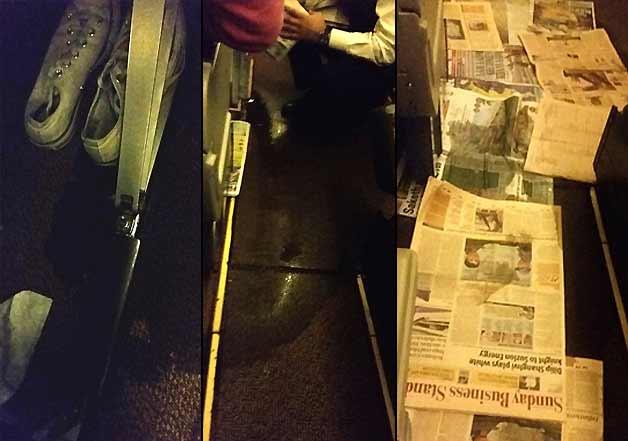 jet airways flight flooded with urine fluid