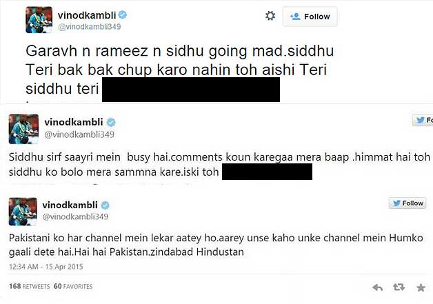 vinod kambli tweets abuses blames friend