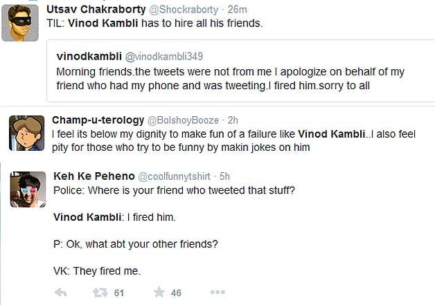 vinod kambli abusive tweets funny reaction