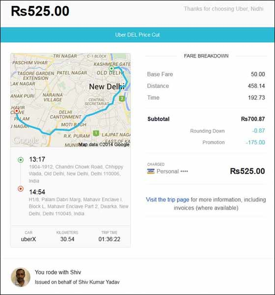 Uber Receipt Template Related Keywords & Suggestions - Uber ...