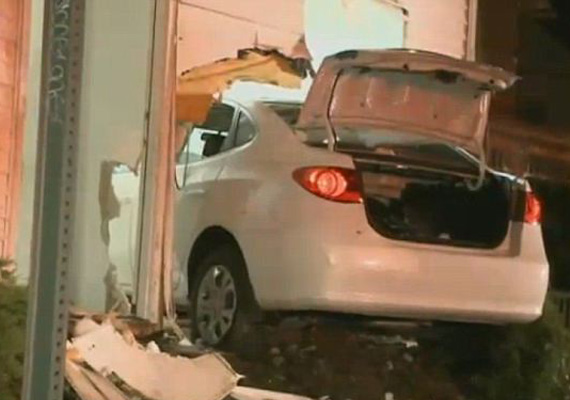 Drunk woman driver crashes car into a house in US