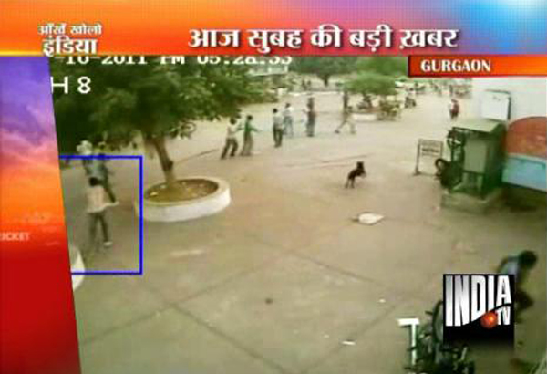 Live CCTV footage of Kurukshetra University student leader shot dead