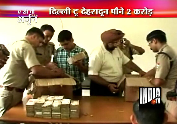 Rs. 1.69 crore cash seized from a car in Dehradun, 3 arrested