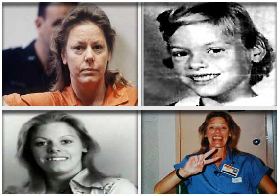 The world's first female serial killer, Aileen Wuornos of the US