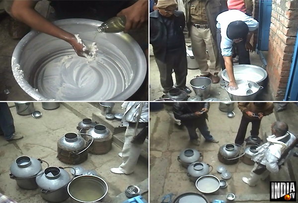 200 Litres Synthetic  Milk Seized In UP
