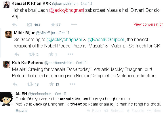 reactions on jackky bhagnani masala tweet