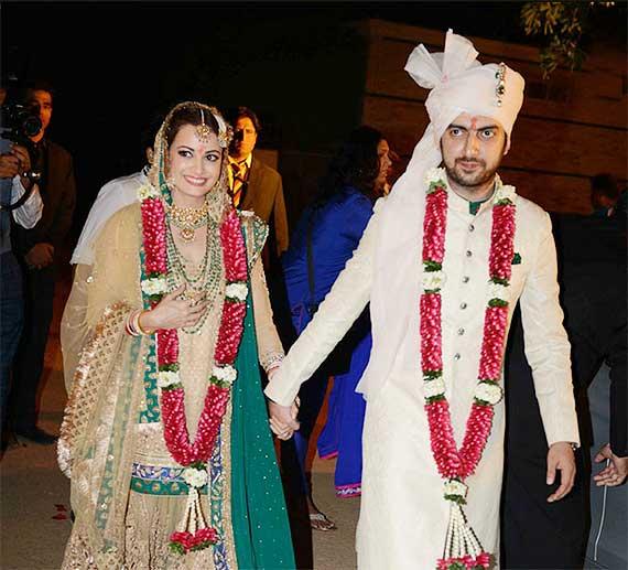 Dia Mirza-Sahil Sangha wedding album | Bollywood News ...