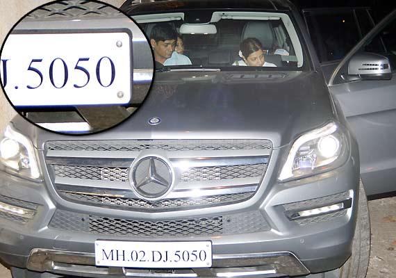 gauri khan aishwarya rai same car number plate