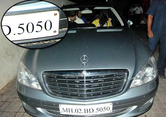 gauri aishwarya car number plate