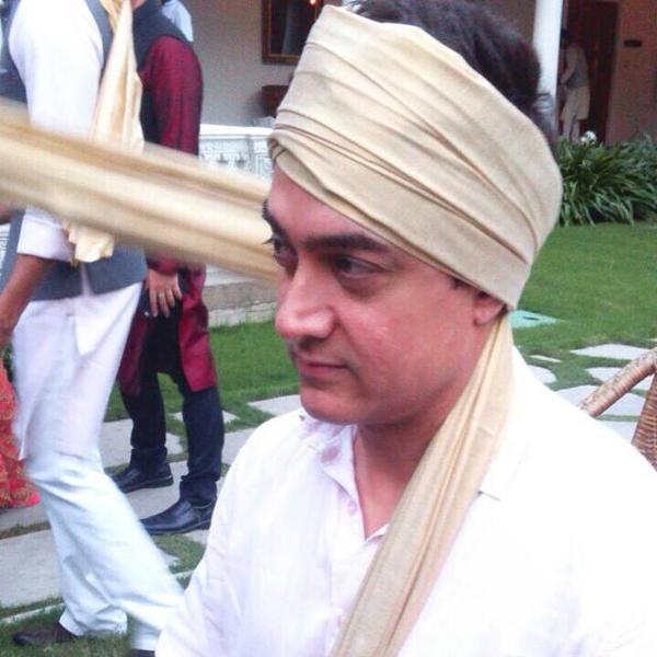 aamir khan at arpita wedding