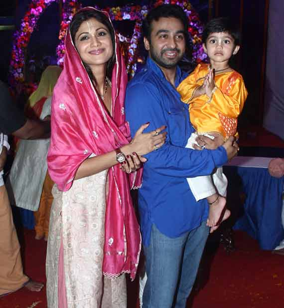 Shilpa Shetty Raj Kundra With Son