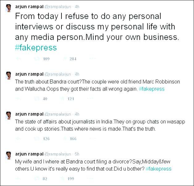 Arjun Rampal tweets