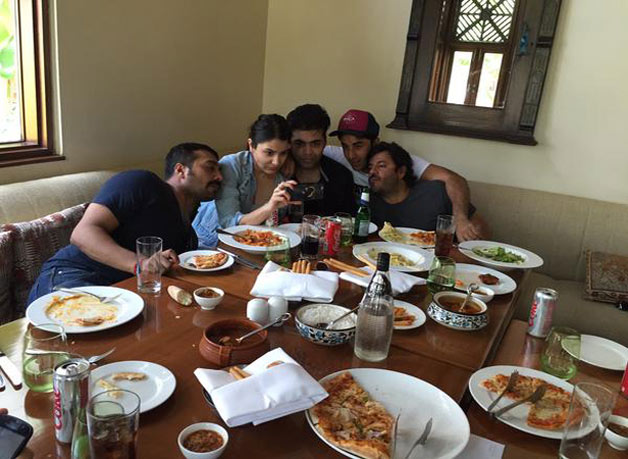 Bombay Velvet team in Goa