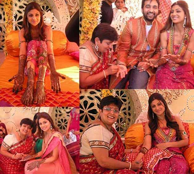 Mehndi Ceremony Of Shilpa Shetty : Shilpa shetty raj kundra wedding album indiatv news