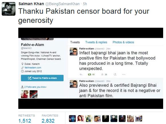 salman khan tweet