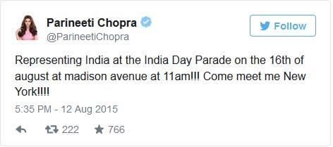 parineeti chopra india day parade
