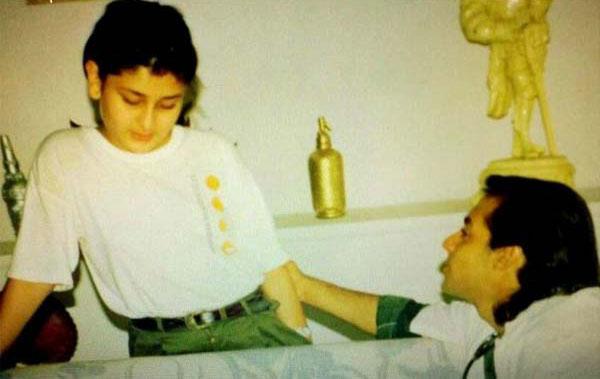 childhood photo of kareena kapoor with young salman khan