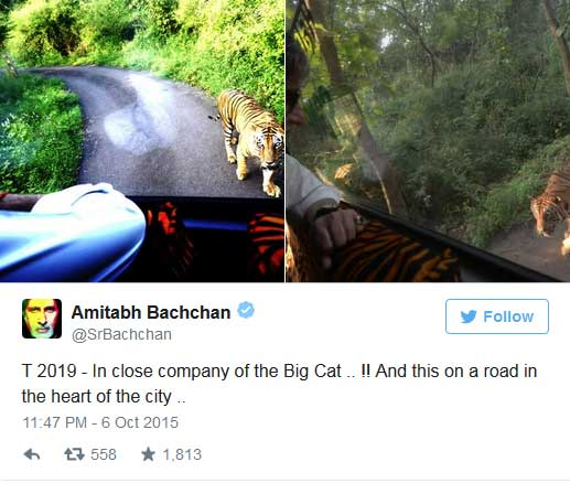 amitabh bachchan chased by tiger