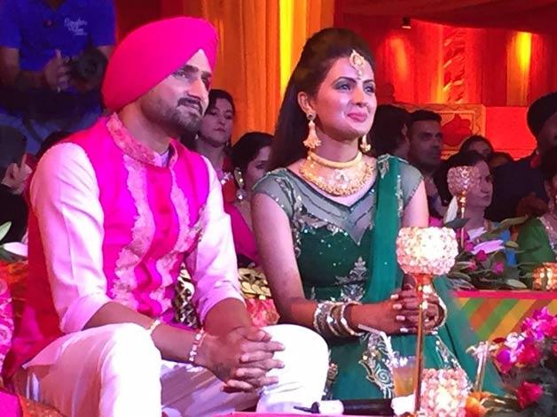 Harbhajan Singh Geeta Basra Sangeet ceremony