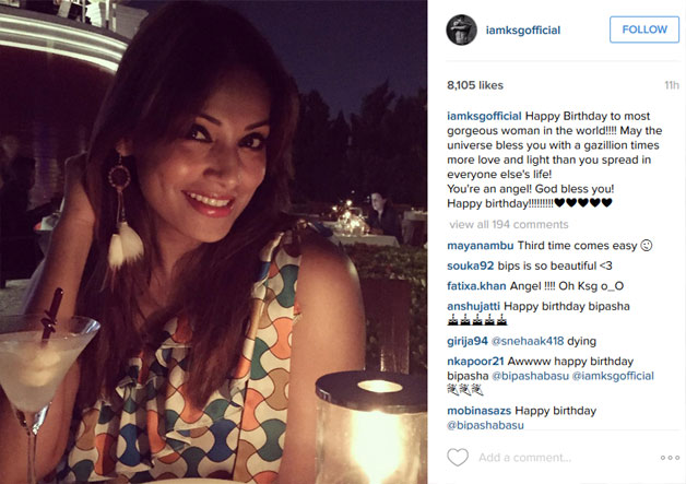 Happy Birthday Wishes Instagram Caption Karan Singh Grover Makes A Romantic Wish For Bipasha
