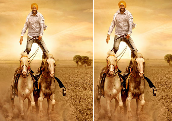 Ajay Devgn performs two-horse stunt for