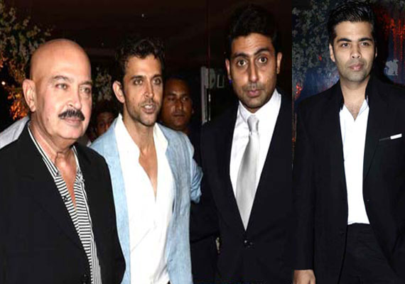 Hrithik, Akshay, Abhishek glittered at big fat wedding bash (watch pics)