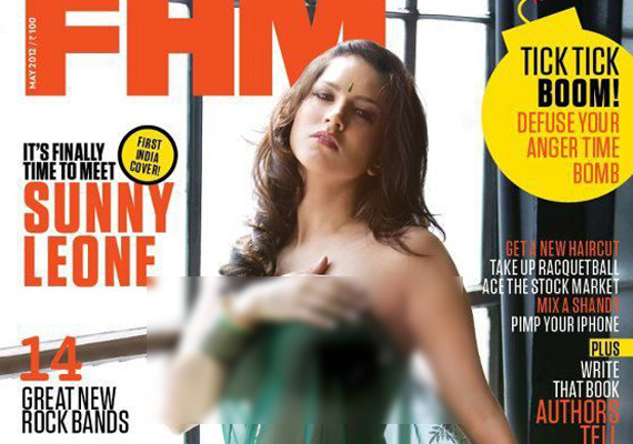 Sunny Leone in bare dare pose for men's magazine
