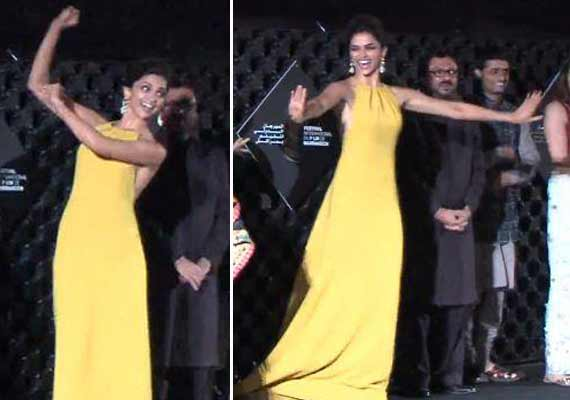 Deepika Padukone grooved the audience at Marrakech Intl Film Festival (view pics)