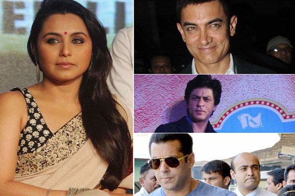 I've soft corner for Salman, Shah Rukh and Aamir: Rani Mukerji