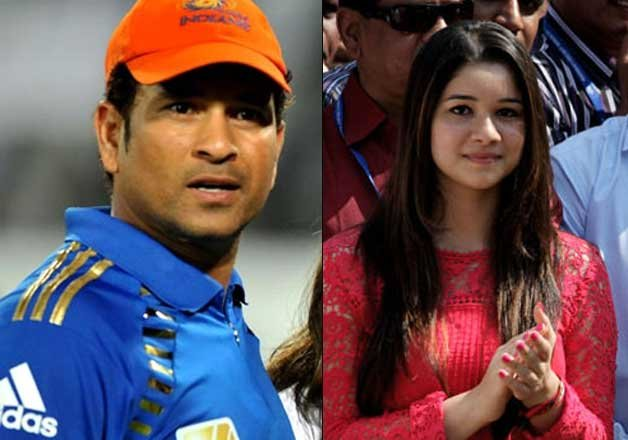 Photo of Sachin Tendulkar & his  Daughter  Sara Tendulkar