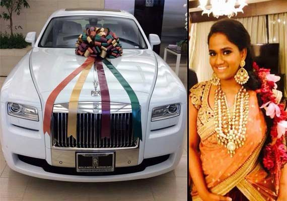 ... ride Rolls Royce Phantom from her brother Salman as a wedding gift