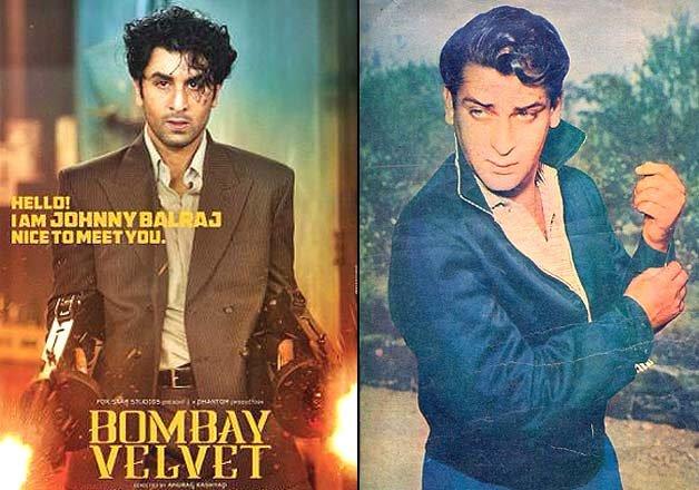 Bombay Velvet first poster: Ranbir Kapoor resembles grandpa Shammi.