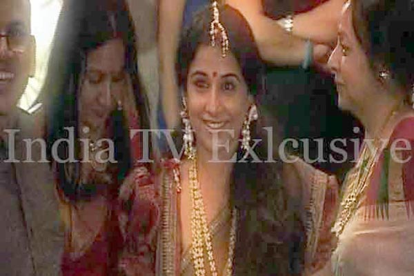 Know the guest list for Vidya Balan's wedding