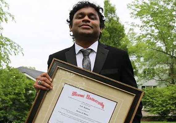 Miami University confers Doctorate on AR Rahman