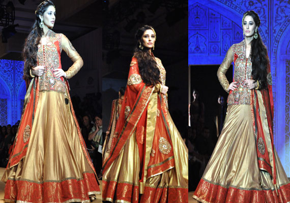 India Bridal Fashion Week:  Nargis Fakhri walks for Ashima Leena